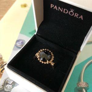 New Pandora 14K Gold Shining Star Black Spinel 💍